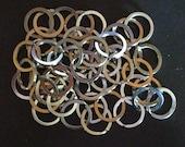 DESTASH 50 silvertone 25mm split rings key rings