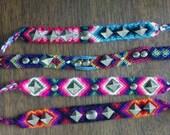 reserved forlisting valentine hopstein Navajo Woven Friendship Bracelet with Rocker Studs