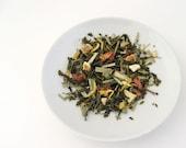 Organic Sunrise Melody Green Tea - ArtfulTea Luxury Loose Leaf Tea Blend, Strawberry, Orange, Lemon, Morning Tea, 3.5 oz. Bag