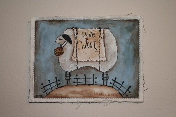 Sheep - Wall Hanging - Hand Painted - OFG