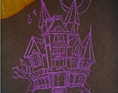 Brown and Purple Haunted Mansion Cloth Napkins - Set of 2