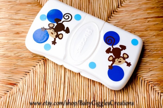 personalized Monkey baby wipe case - create your own free shipping