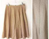 60's Mustard Yellow Wool Skirt