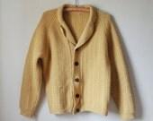 Vintage Ochre Cardigan