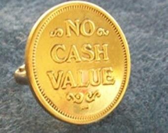 ON SALE - Brass Ring - No Cash Value Token