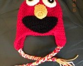 Photography Prop Elmo Hat with Ties