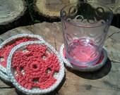 Coral Mandala Coasters / Boho Beach Home / Shabby Chic