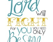 Card - The Lord will FIght for You