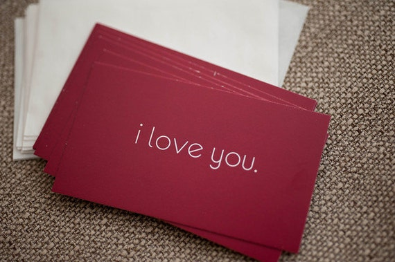 i love you mini cards with envelopes