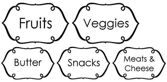 Custom Simple Thin Frame Jar labels or Refrigerator labels