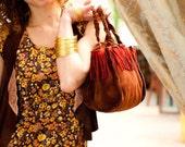 30% off Suede Leather Basket Bag, Leather Handbag, Leather Purse, Leather Handbag, Made to Order by Purple feather