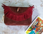Leather Tarot Bag, Leather Case for cards, Adjusted to Merlin the Magician cards, Osho cards, Tarot card pouch, Made to Order