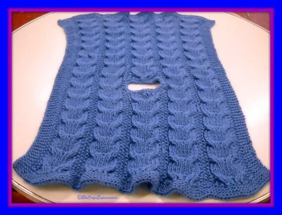 Knitting Pattern For Stroller Blanket : Owly Reversible Stroller Blanket Knitting Pattern PDF