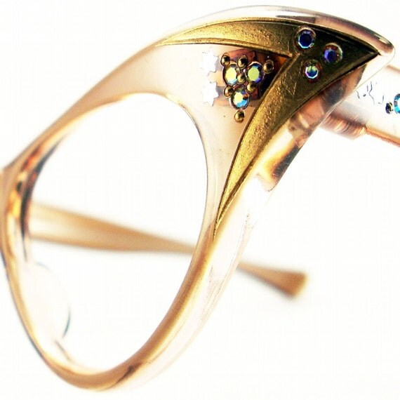 Vintage 50s Frame France Cat Eye Glasses Eyeglasses Sunglasses Glasses New