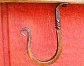 Wrought Iron Twisted Shelf Hooks