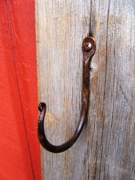 Large Wrought Iron Wall Hook By Furnacebrookiron On Etsy