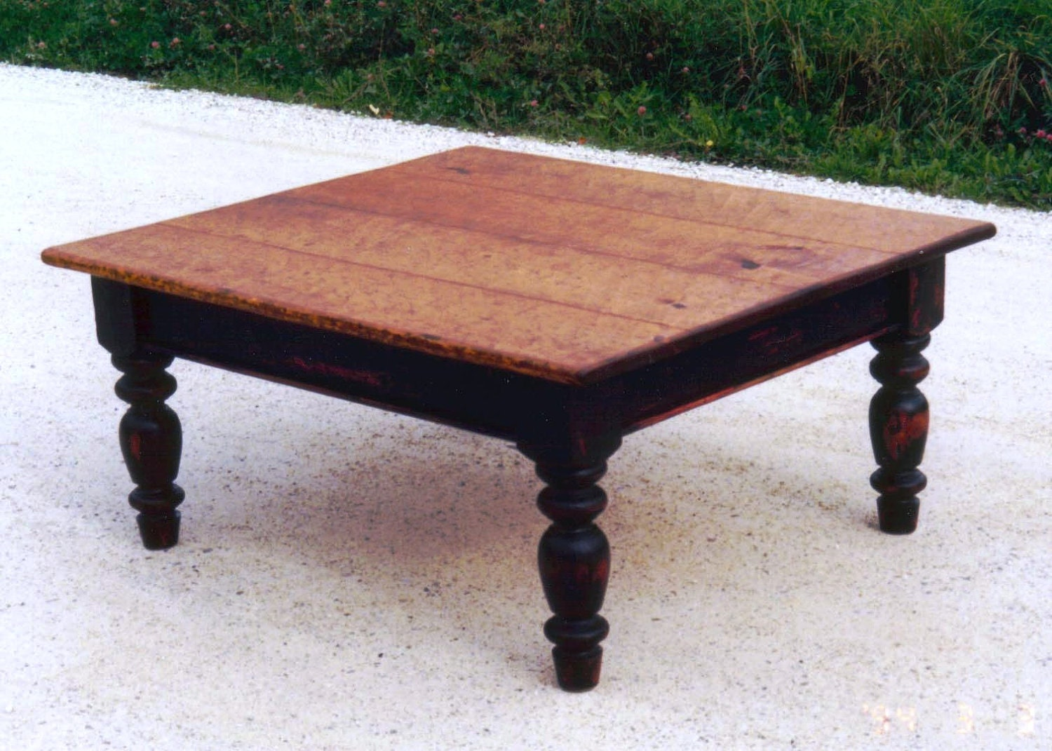 Vermont farmhouse coffee table by FurnaceBrookIron on Etsy