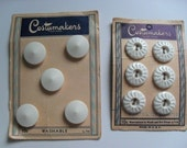 Vintage White Buttons Costumakers