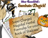 Samhain/Halloween Herbal Formulas and Recipes for Magickal Powders & Herb Mixes Wicca Pagan