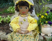 Primitive Doll with Spiritism Prayer OOAK 25 inches in length Her Name Is Gin-Honey Bea