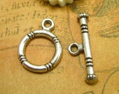 20 sets Antique Silver Toggle Clasps CH0398