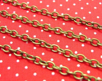 Brass Chain,16 Feet Nickel Free Unfinished Link 4x3.5mm CH0637