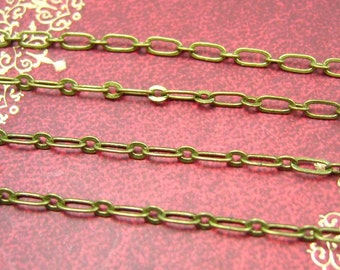 Brass Chain,16 Feet Nickel Free Unfinished Link 5x2mm CH0654