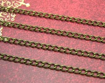Brass Chain,16 Feet Nickel Free Antique Bronze Chain Link 2.5x1.8mm CH0665