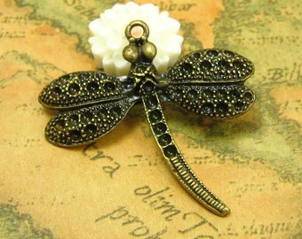 10 pcs Antique Bronze Dragonfly Charms 37x35mm CH0071