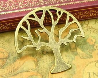 5 pcs Antique Bronze Tree Charms 47mm CH0159