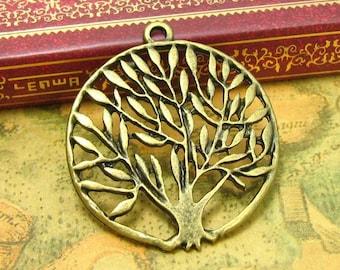 5 pcs Antique Bronze Tree Charms Tree Pendants CH0150