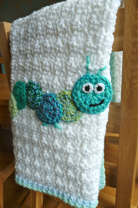 Crochet Baby Blanket Patterns On Etsy : Crochet Caterpillar Baby Blanket by CraftyRedman on Etsy