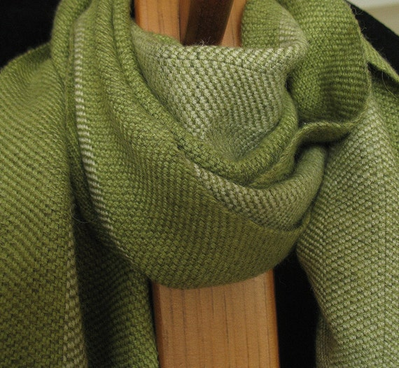 Snow Pea Green Baby Alpaca and Bamboo Scarf