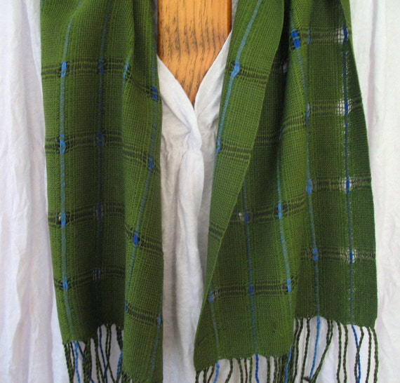 Green and Blue Bamboo Scarf