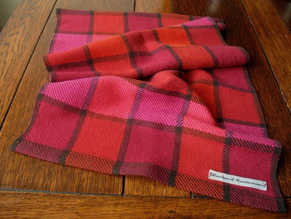 Raspberry Red, Pink and Orange Handwoven Dish Towel