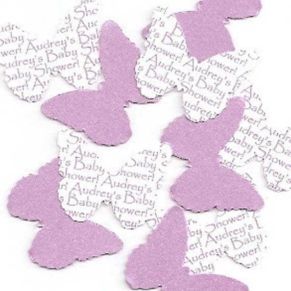 Purple Butterfly Party Decorations - Personalized Table Sprinkles