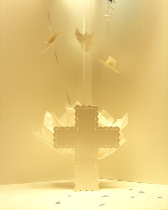 Baptism centerpieces for boys or girls communion decor