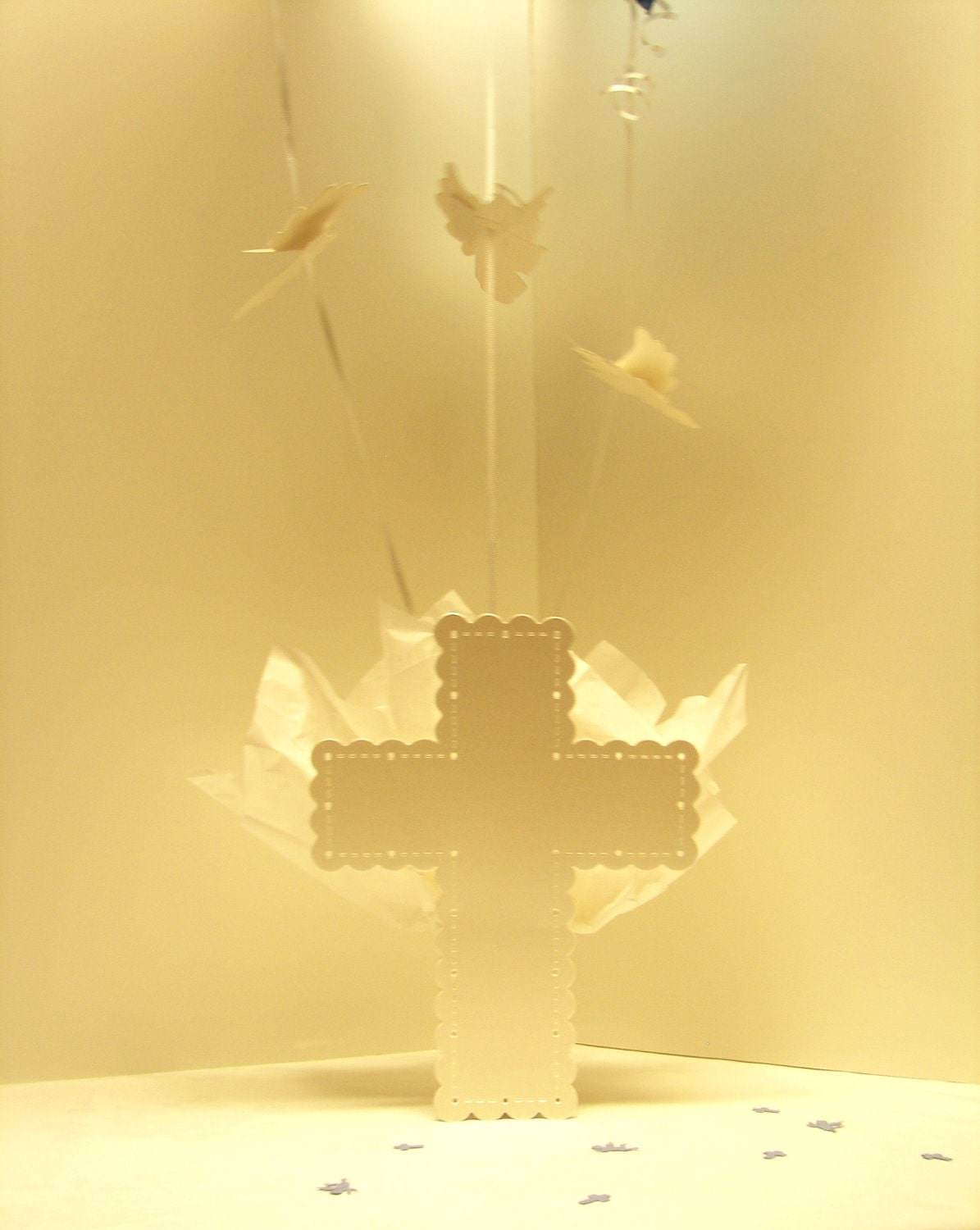 Baptism centerpieces for boys or girls by settocelebrate for Angel decoration