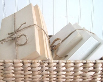 Oversized Book Bundles Bound with Jute, Trendy AND Thrifty - Save on Bulk Orders