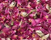 Dried ROSES Buds & Petals Red Rose Pink Rose Wedding Toss Bulk Wholesale Favors Sachets // 15 Cups 20 Cups 25 Cups 30 Cups 40 Cups