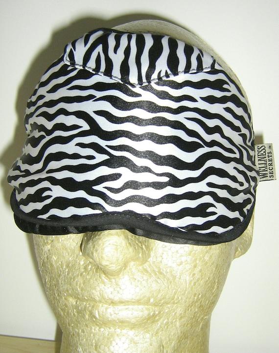 WASHABLE Sleep Eye Mask - Blocks Light Completely, Lifts Mask Off Your Eyeballs & Lashes, WASHABLE, Fully Adjustable - Zebra