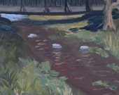 By a Quiet Stream - original oil painting