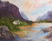 RESERVED For KATHARYN Glencoe, Scotland - Original Pastel Painting/Drawing