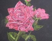 Red Roses - Original Pastel Painting/Drawing