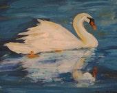 R E S E R V E D!!  Quiet Elegance : Original Acrylic Painting
