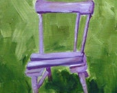 Fairy Garden Chair - Original Oil Painting
