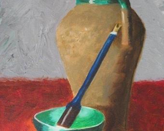 The Blue Brush : Original Acrylic Painting