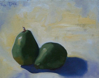 Pair Pear - Original Oil Painting