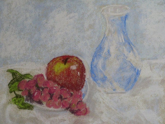 Fruity Delight - Original Pastel Painting/Drawing