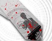 007 Mens Tie , The Tie Who Loves Me - Double O Ty Spy collection  necktie, james bond necktie, movie necktie